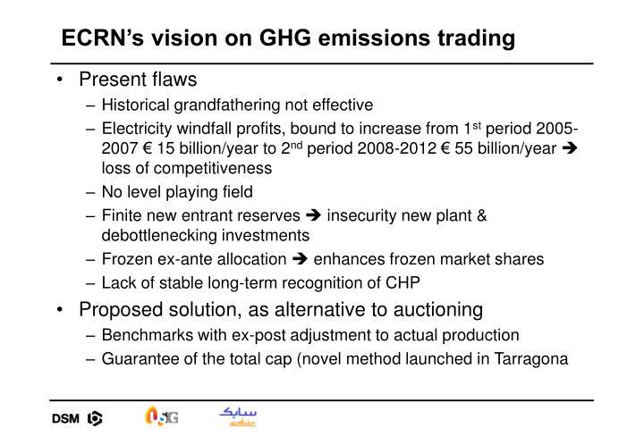 ECRN's vision on GHG emissions trading