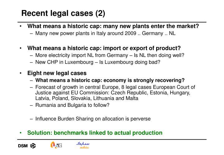 Recent legal cases (2)