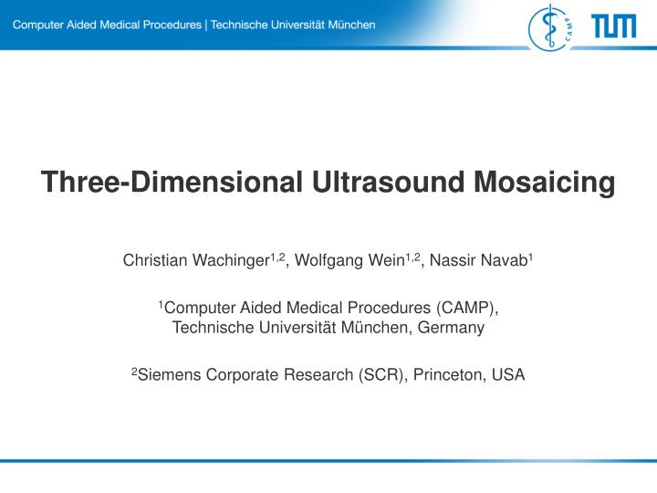 Three-Dimensional Ultrasound Mosaicing
