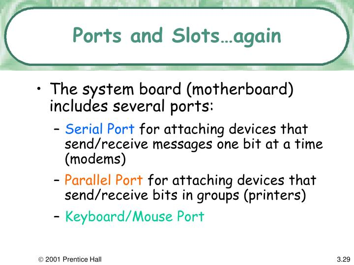 Ports and Slots…again