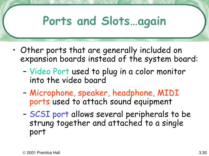 Ports and Slots…again