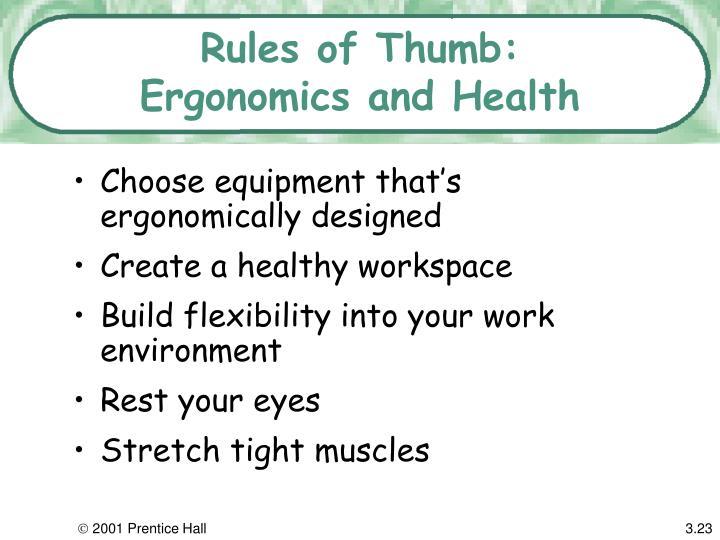 Rules of Thumb: