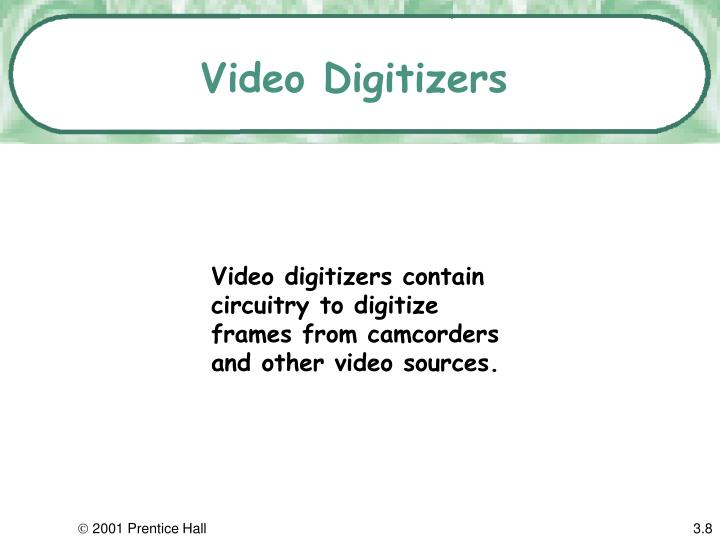 Video Digitizers