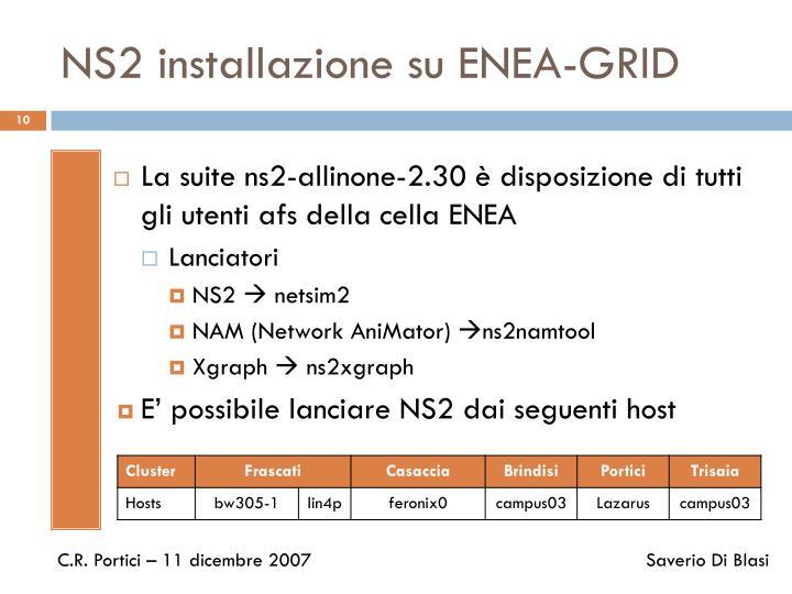 NS2 installazione su ENEA-GRID