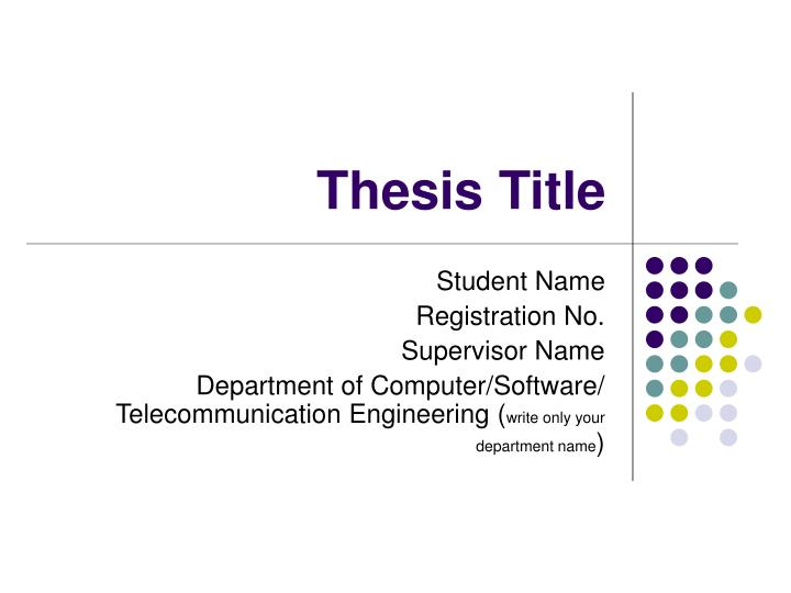thesis title