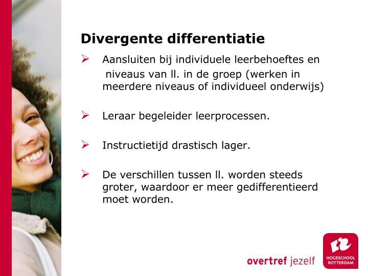 Divergente differentiatie