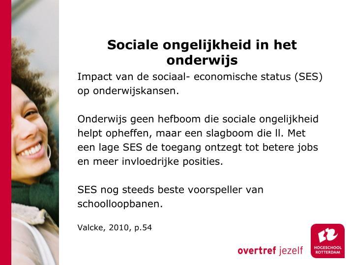 Sociale ongelijkheid in het onderwijs