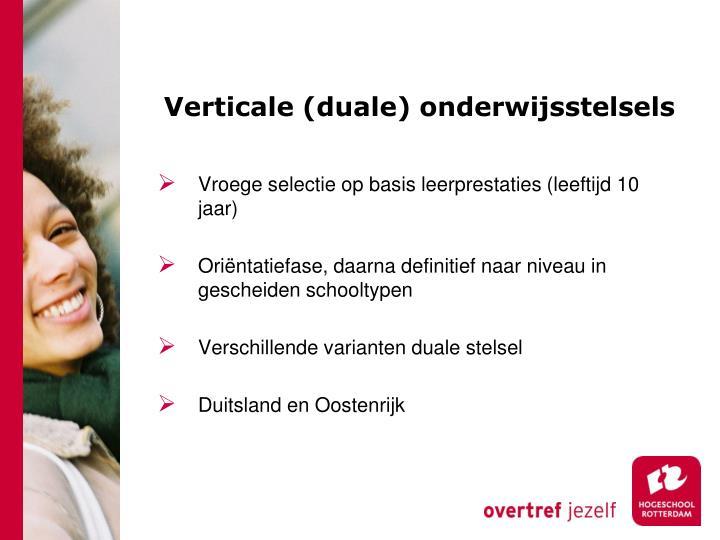 Verticale (duale) onderwijsstelsels