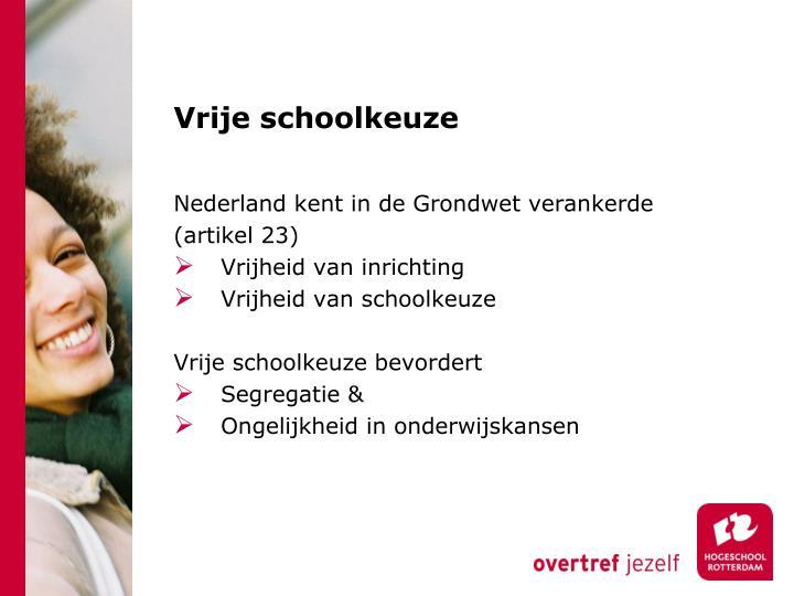 Vrije schoolkeuze