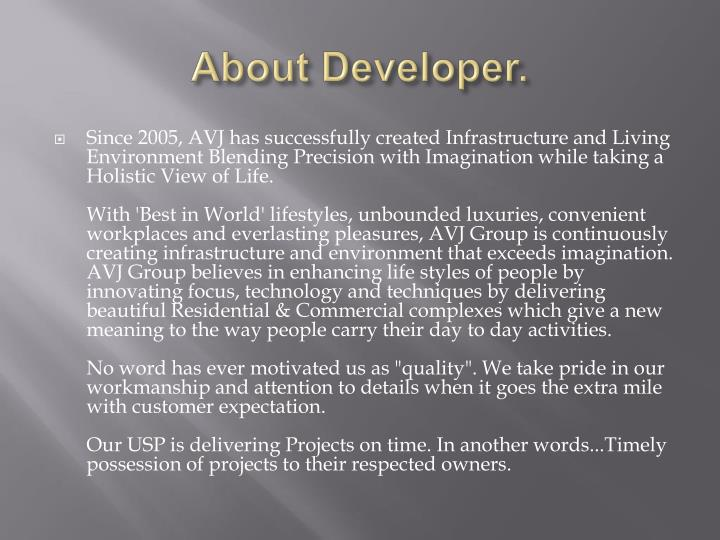 About developer