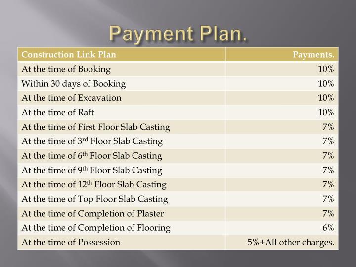 Payment Plan.