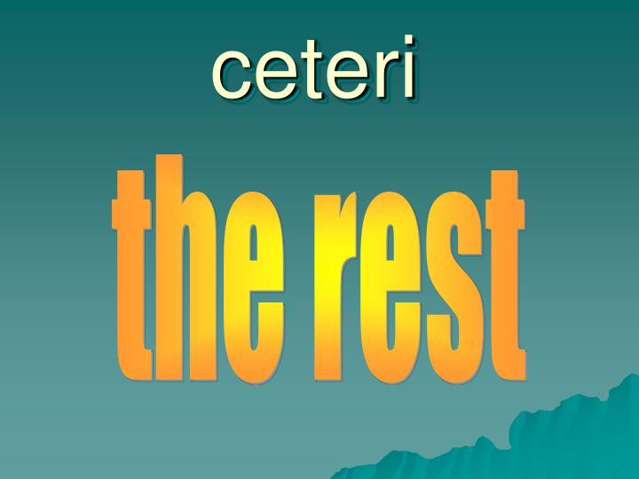 ceteri