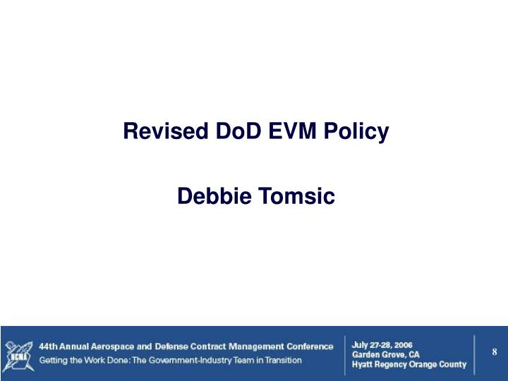Revised DoD EVM Policy