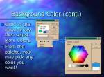 background color cont