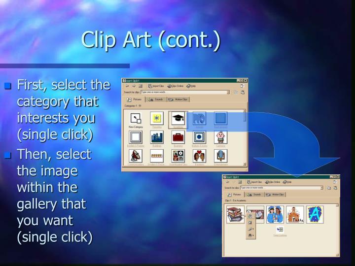 Clip Art (cont.)