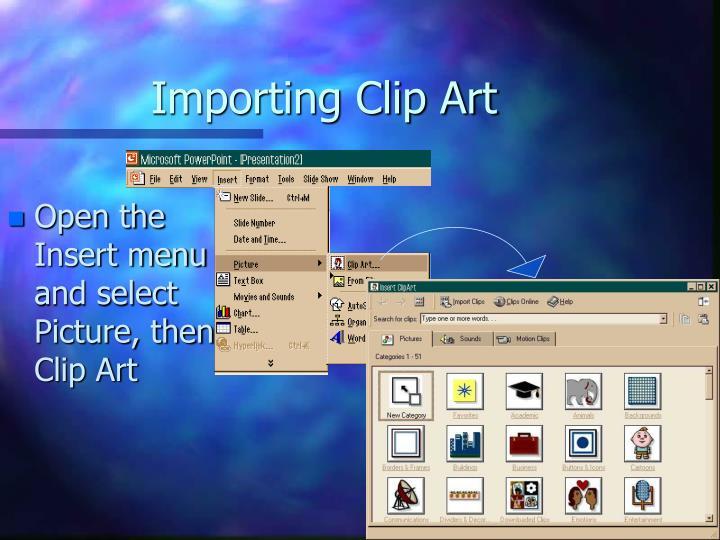 Importing Clip Art