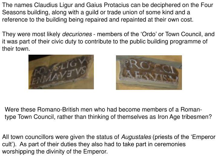 The names Claudius