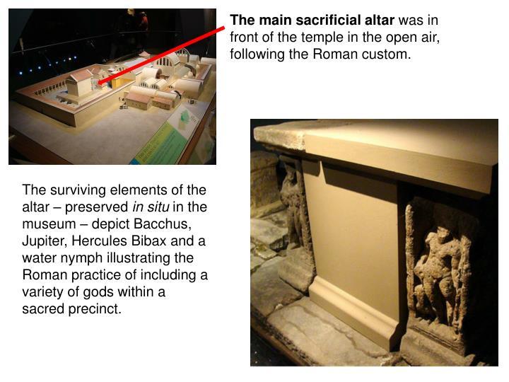 The main sacrificial altar