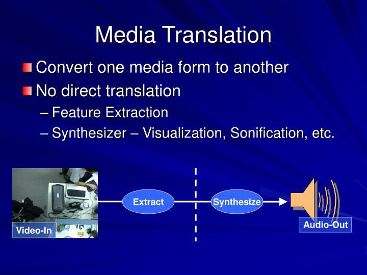 Media Translation