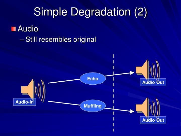 Simple Degradation (2)