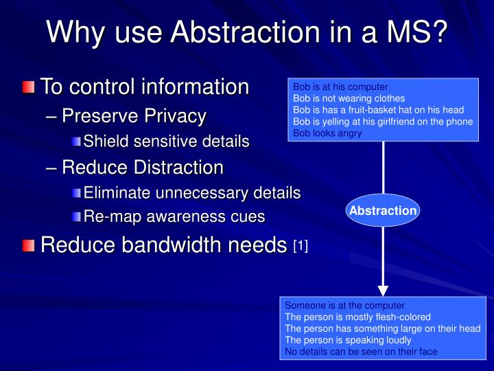 Why use Abstraction in a MS?