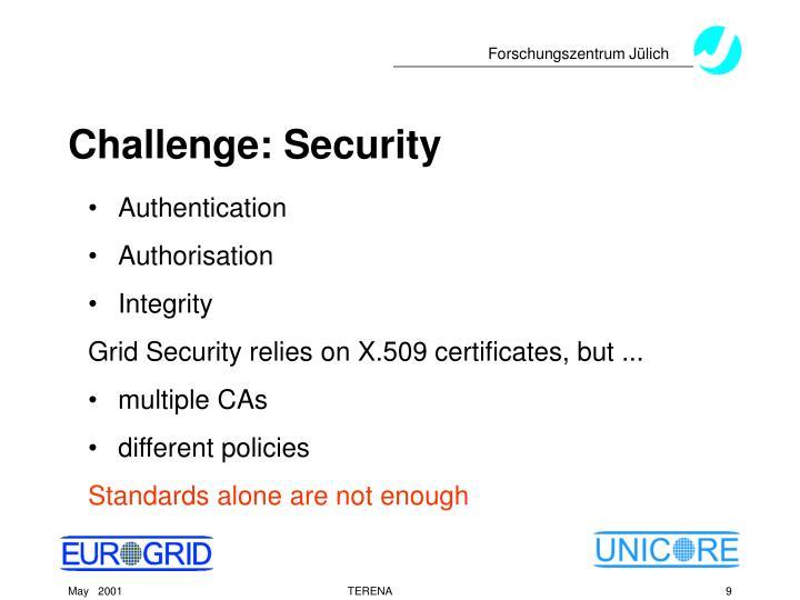 Challenge: Security