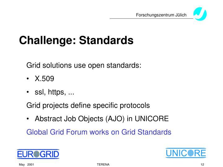 Challenge: Standards