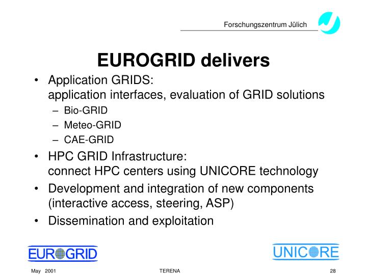 EUROGRID delivers