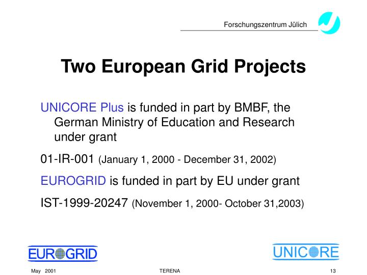 Two European Grid Projects