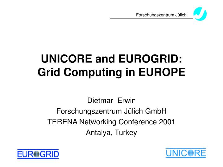 Unicore and eurogrid grid computing in europe