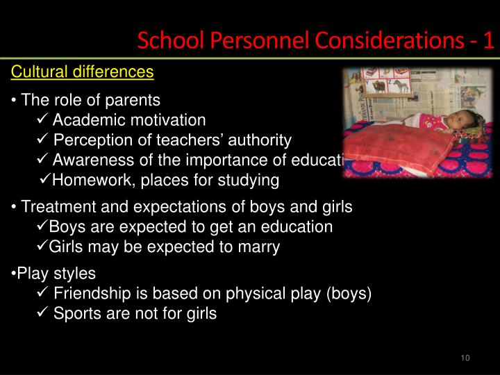 School Personnel Considerations - 1
