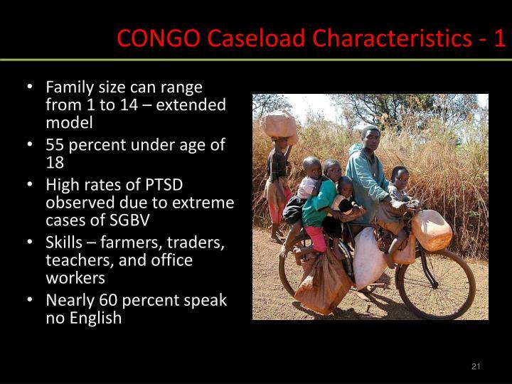 CONGO Caseload Characteristics - 1
