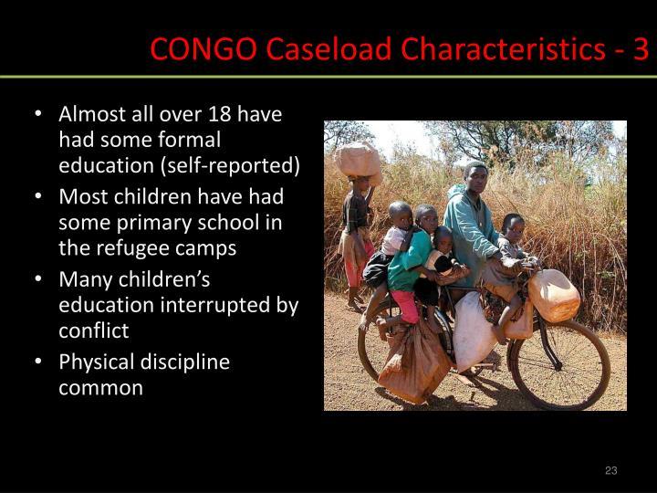 CONGO Caseload Characteristics - 3
