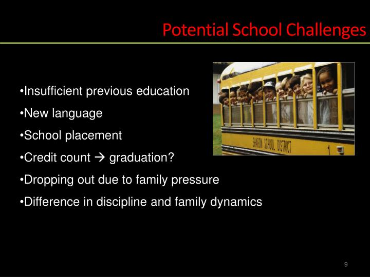 Potential School Challenges