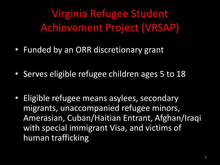 Virginia Refugee Student