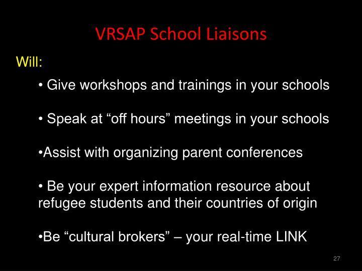 VRSAP School Liaisons