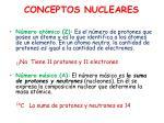 conceptos nucleares