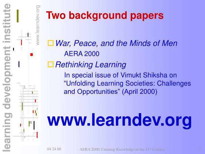 Two background papers