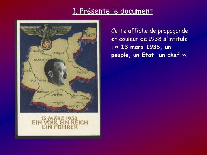 1. Présente le document