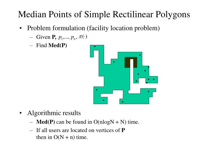 Median Points of Simple Rectilinear Polygons