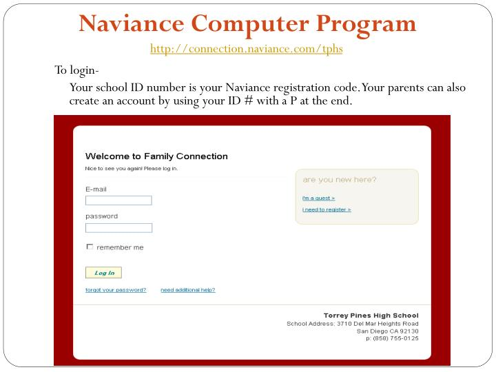 Naviance Computer Program