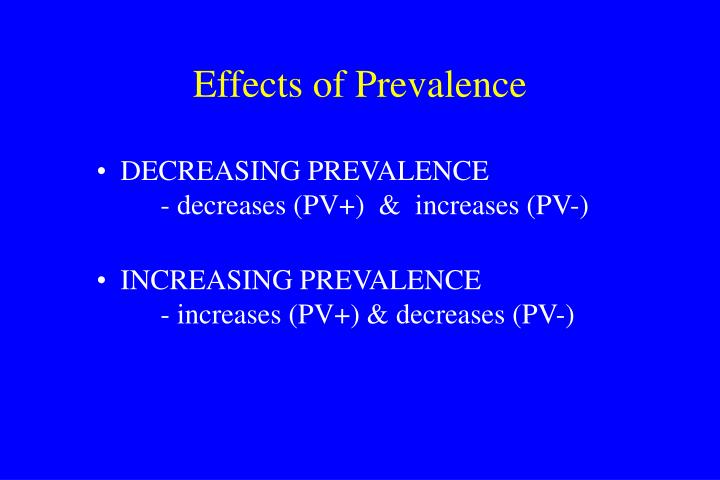 Effects of Prevalence
