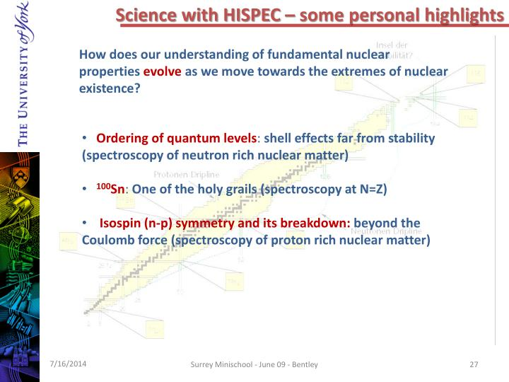 Science with HISPEC – some personal highlights