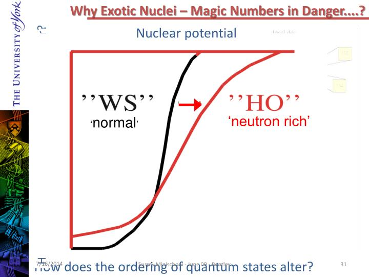 Why Exotic Nuclei – Magic Numbers in Danger....?