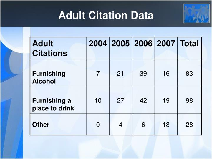 Adult Citation Data