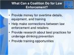 what can a coalition do for law enforcement