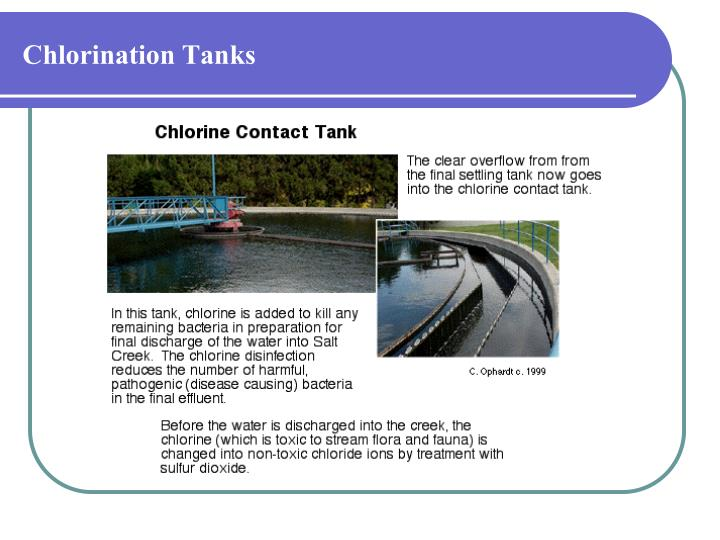 Chlorination Tanks