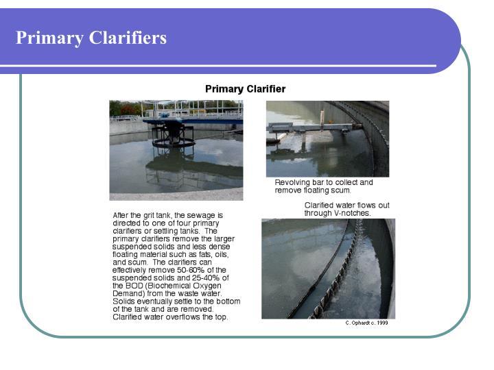 Primary Clarifiers