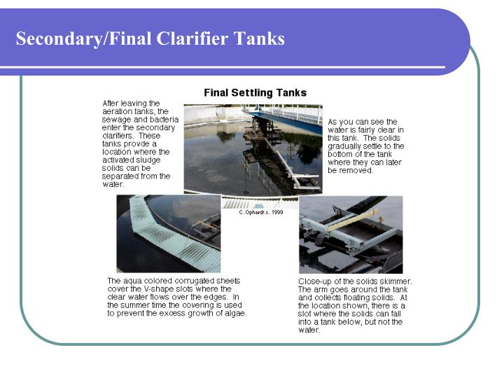 Secondary/Final Clarifier Tanks