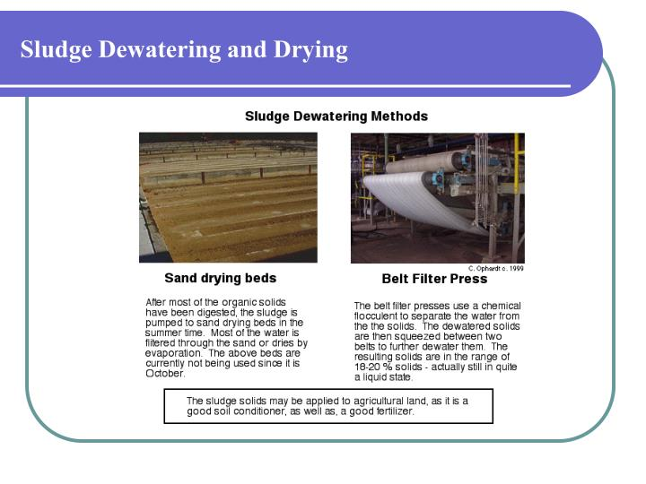 Sludge Dewatering and Drying